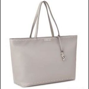 Gray Victoria's Secret Studded Everything Tote NWT